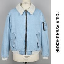 Gosha Rubchinskiy FAUX FUR DENIM JACKET ブルー 国内発