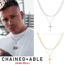 Chained & Able(チェーンドアンドエイブル) ネックレス・チョーカー 送料無料☆Chained & Able*十字架*ダブルチェーンネックレス*2色