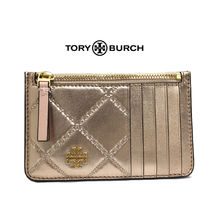TORY BURCH GEORGIA SLIM カードケース50277-654ROSE.GOLD(新品)