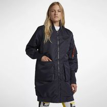 ナイキ 932050-475 WMNS AS W NSW PARKA INS MA1 DARK OBSIDIAN