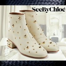 **See by Chloe**Jarvis Embllished Leather Ankle Boots☆
