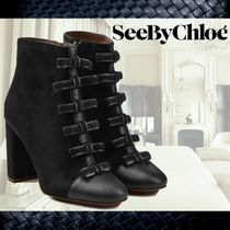 **See by Chloe**Ankle Boots With Leather and Suede☆ブーツ