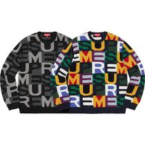 7 WEEK Supreme FW 18 Big Letters Sweater