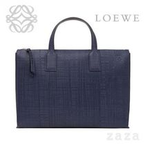 LOEWE★ロエベ Goya Simple Briefcase Navy Blue