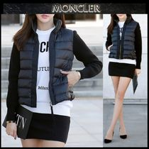 【MONCLER】18AW 異素材MIX ジップアップブルゾン BLACK/EMS直送