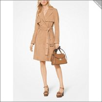 【Michael Kors】Belted Suede Trench Coat