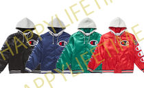 Week7!SUPREME18FW★Champion Hooded Satin Varsity Jacket