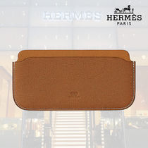 【18AW】HERMES Pochette E-Cover Jungle gold/toffee