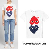 Comme des Garcons Play Polka Dot Mix Heart Tee 半袖 Navy&Red