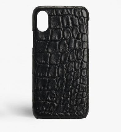 THE CASE FACTORY スマホケース・テックアクセサリー 関税送料込☆THE CASEFACTORY☆IPHONE XS MAX CROCODILE BLACK(2)