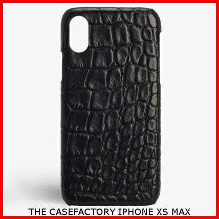 THE CASE FACTORY スマホケース・テックアクセサリー 関税送料込☆THE CASEFACTORY☆IPHONE XS MAX CROCODILE BLACK