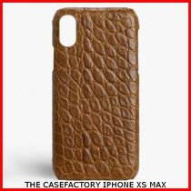 関税送料込☆THE CASEFACTORY☆ IPHONE XS MAX CROCODILE COGNAC