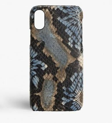 THE CASE FACTORY スマホケース・テックアクセサリー 関税送料込☆THE CASEFACTORY☆IPHONE XS MAX FLORALPYTHON BLUE(2)