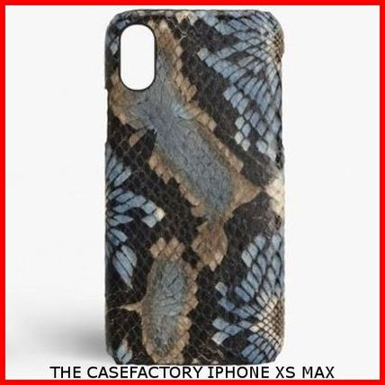 THE CASE FACTORY スマホケース・テックアクセサリー 関税送料込☆THE CASEFACTORY☆IPHONE XS MAX FLORALPYTHON BLUE