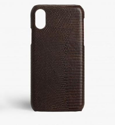 THE CASE FACTORY スマホケース・テックアクセサリー 関税送料込☆THE CASEFACTORY☆IPHONE XS MAX LIZARD BROWN(2)