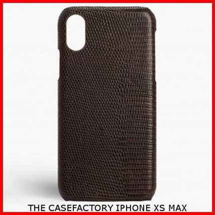 THE CASE FACTORY スマホケース・テックアクセサリー 関税送料込☆THE CASEFACTORY☆IPHONE XS MAX LIZARD BROWN