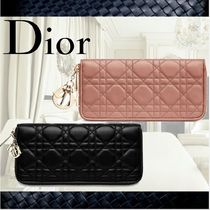 **Dior**ディオール★LADY DIOR WALLET IN 2color LAMBSKIN財布
