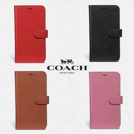Coach iPhone・スマホケース 【COACH】 レザー使用 * iPhone case for X/Xs