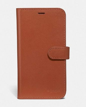 Coach iPhone・スマホケース 【COACH】 レザー使用 * iPhone case for X/Xs(8)
