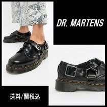 【Dr Martens】Fulmar Black Leather Harness Flat Shoes ♪