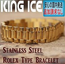LA発★King Ice★HipHopブレスレットStainlessSteel Rolex Type