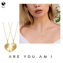 【ARE YOU AM I】AMIS ゴールド ハート ペアネックレス【関送込