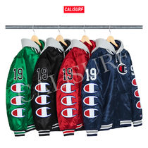 【WEEK7】AW18 SUPREME x CHAMPION HOODED SATIN VARSITY JACKET