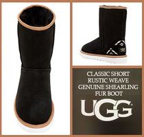 [セール]UGG☆CLASSIC SHORT RUSTIC WEAVE FUR BOOT☆ブーツ
