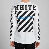 OFF WHITE 16SS DIAG BLUE COLLAR L/S T-SHIRT