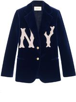 【関税負担】♡GUCCI♡ Velvet Jacket NY Yankees