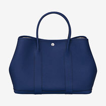 HERMES Love,Love !! Garden Party 36 tote bag (Blue saphir!!)