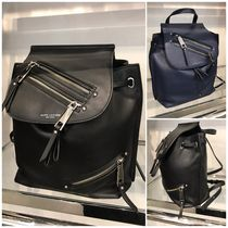 SALE!!!!【Marc Jacobs】Leather Zip Mid Backpack