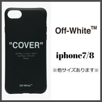 "[ Off-White(オフホワイト) ]logo ""COVER"" iphone 7/8"