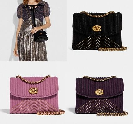 Coach ◆ 31034 Parker 18 in velvet quilting with rivets