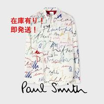 """【Paul Smith】""""Ideas Text"""" プリント シャツ"""