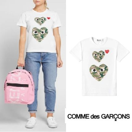 e921ca0f14fb COMME des GARCONS Tシャツ・カットソー Comme des Garcons Play Twin Heart Tee  White Camo ...