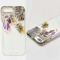 Urban Outfitters 大人気 押し花 クリアiPhoneケース 6/6s/7/8+