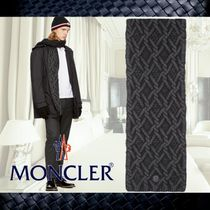 **Moncler**モンクレール☆Black Cable Knit Scarf☆マフラー