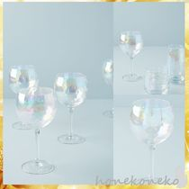 【送料込 Anthropologie】 Set of 4 Lustered Wine Glasses