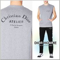18-19AW★DIOR HOMME ロゴ プリント ノースリーブ スウェット