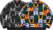 【WEEK7】AW18 SUPREME(シュプリーム)BIG LETTERS SWEATER/S