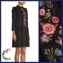 Kate Spade★EMBROIDERED MIXED MEDIA DRESS☆セール