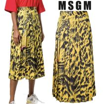 【18AW】★MSGM★pleated mid-length skirt