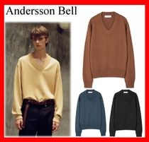 ANDERSSON BELL(アンダースンベル) ニット・セーター 18AW★人気【ANDERSSON BELL】UNISEX INSIDE OUT V NECK SWEATER