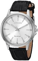 Citizen Women 's ' eco-drive ' Quartzステンレススチールandレ