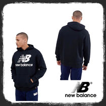 New Balance pullover hoodie with large logo パーカー