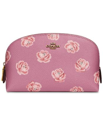Coach メイクポーチ ★セール★ COACH Cosmetic Case 17 With Rose Print
