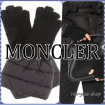VIP価格★MONCLER★日本未入荷 Quilted wool-trim グローブ