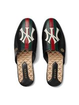 GUCCI ◆ NY Yankees PATCH ヤンキースパッチ レザースリッパ