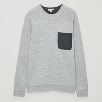 COS☆ LAMBSWOOL JUMPER WITH POCKET / light grey